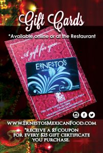 Ernesto's Mexican Food - Gift Cards